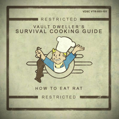 Vault Dwellers Survival Cooking Guide - pdf manual cover