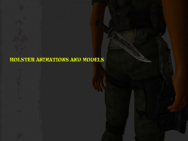 Holster animations and models