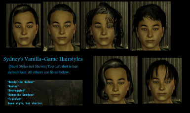 Default Hairstyles Available