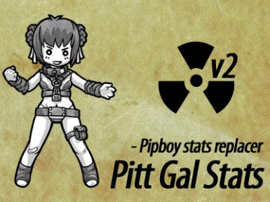Pitt Gal Stats v2A - Pipboy stats replacer