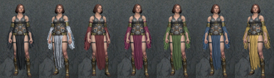 Bersekin and Flame Skirt recolors