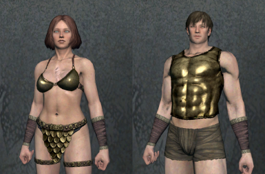 Gold Chestplate and Gold Delta Guard