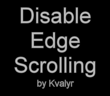 Disable Edge Scrolling