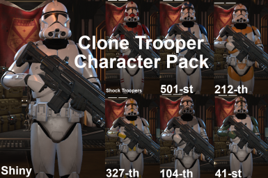 Star Wars Clone Trooper Character Pack (FIX IN DESC)