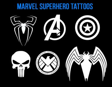 Marvel Superhero Tattoos