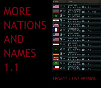 More Nations and Names LEGACY