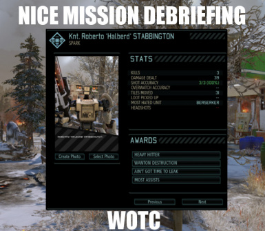 WOTC Nice Mission Debriefing