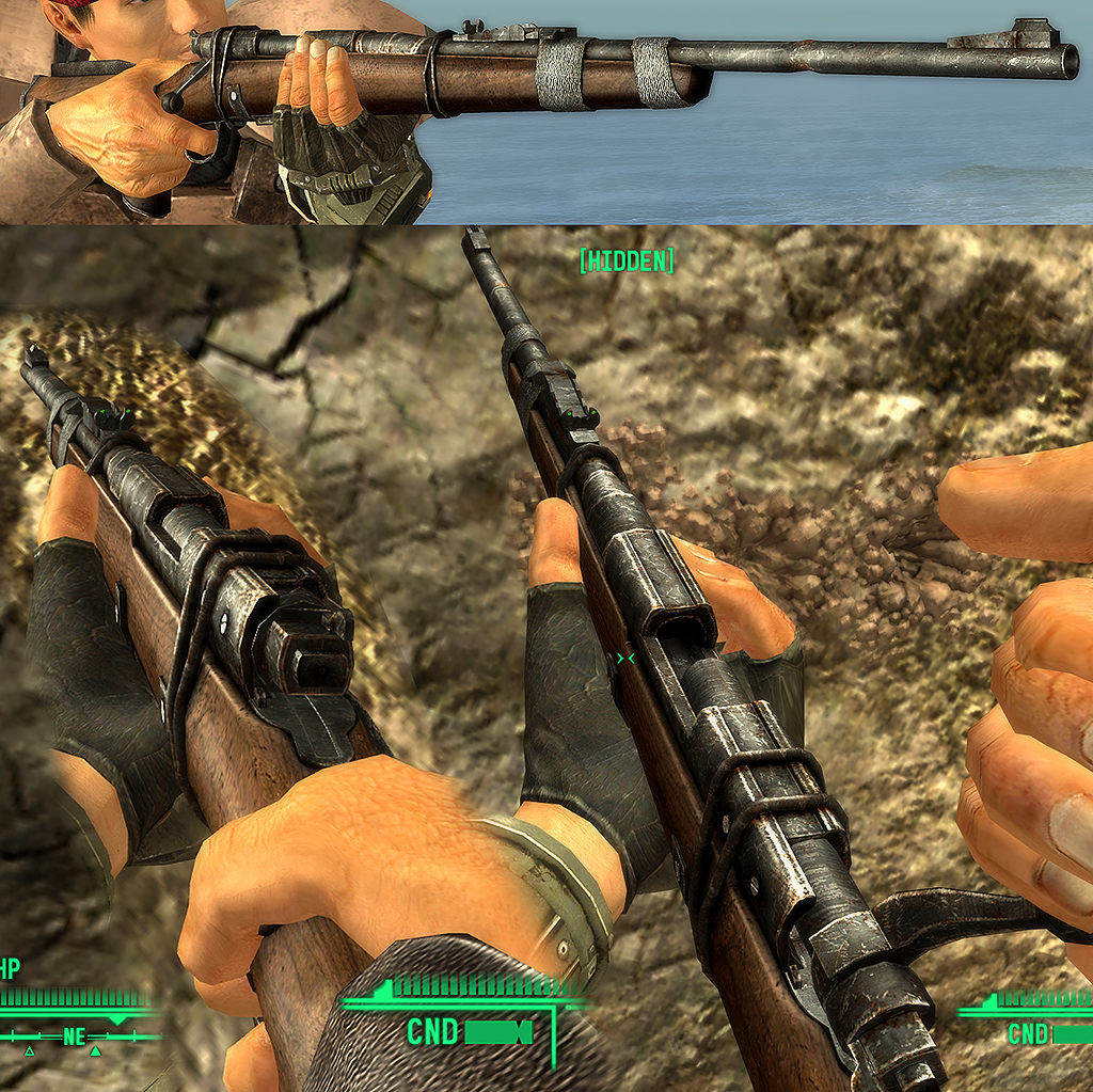 Hunting Rifle retexture at Fallout New Vegas - mods and community
