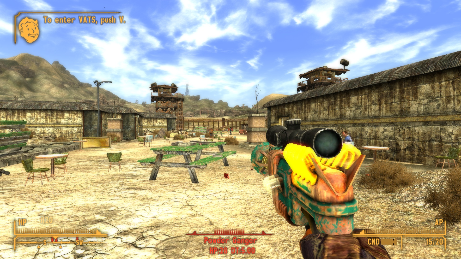 srp scoped recharger pistol at fallout new vegas mods and community. Black Bedroom Furniture Sets. Home Design Ideas