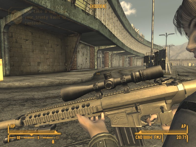 m110 sass sniper rifle at Fallout New Vegas - mods and community