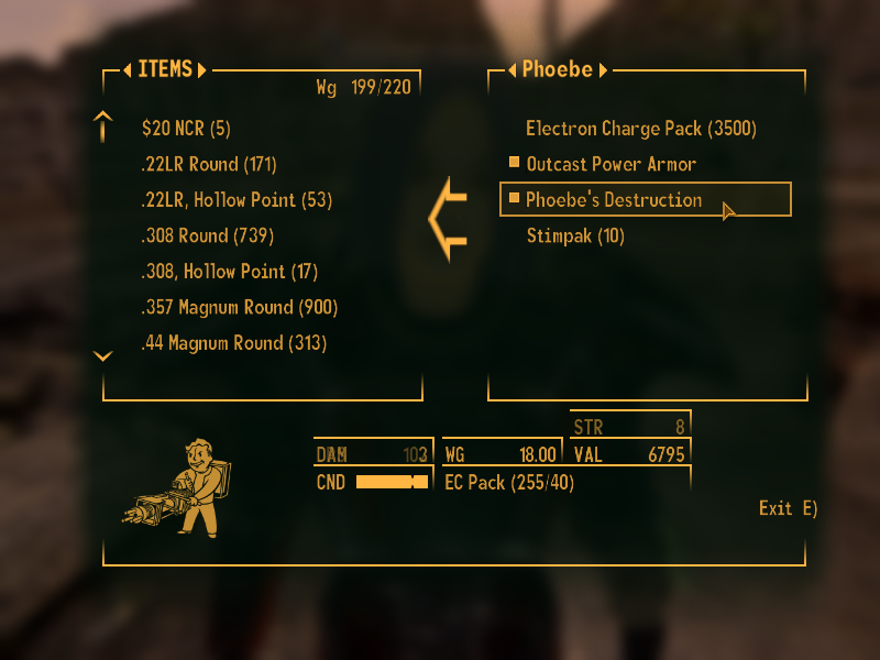 Phoebe the bos outcast at fallout new vegas mods and community