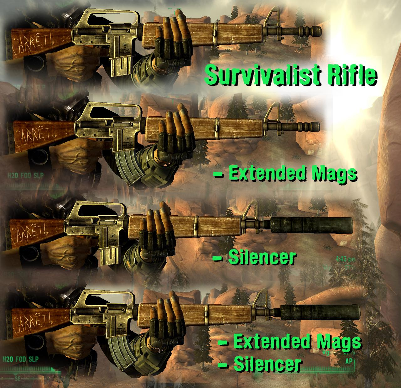 Survivalist And Service Rifle Mods At Fallout New Vegas