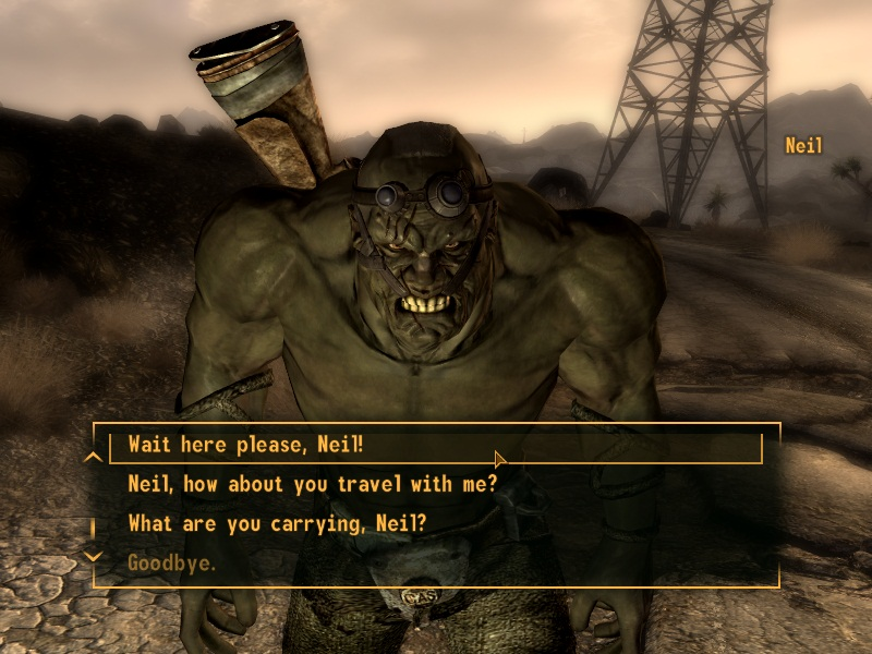 how to get companion in new vegas