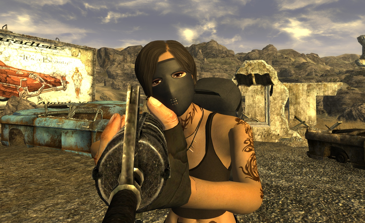ballistic face mask at fallout new vegas mods and community