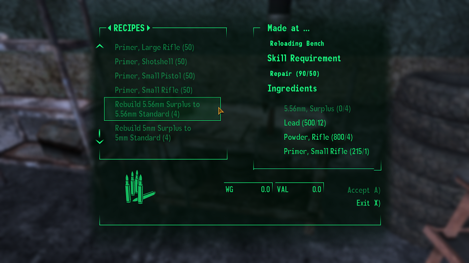 New Vegas Extended Crafting