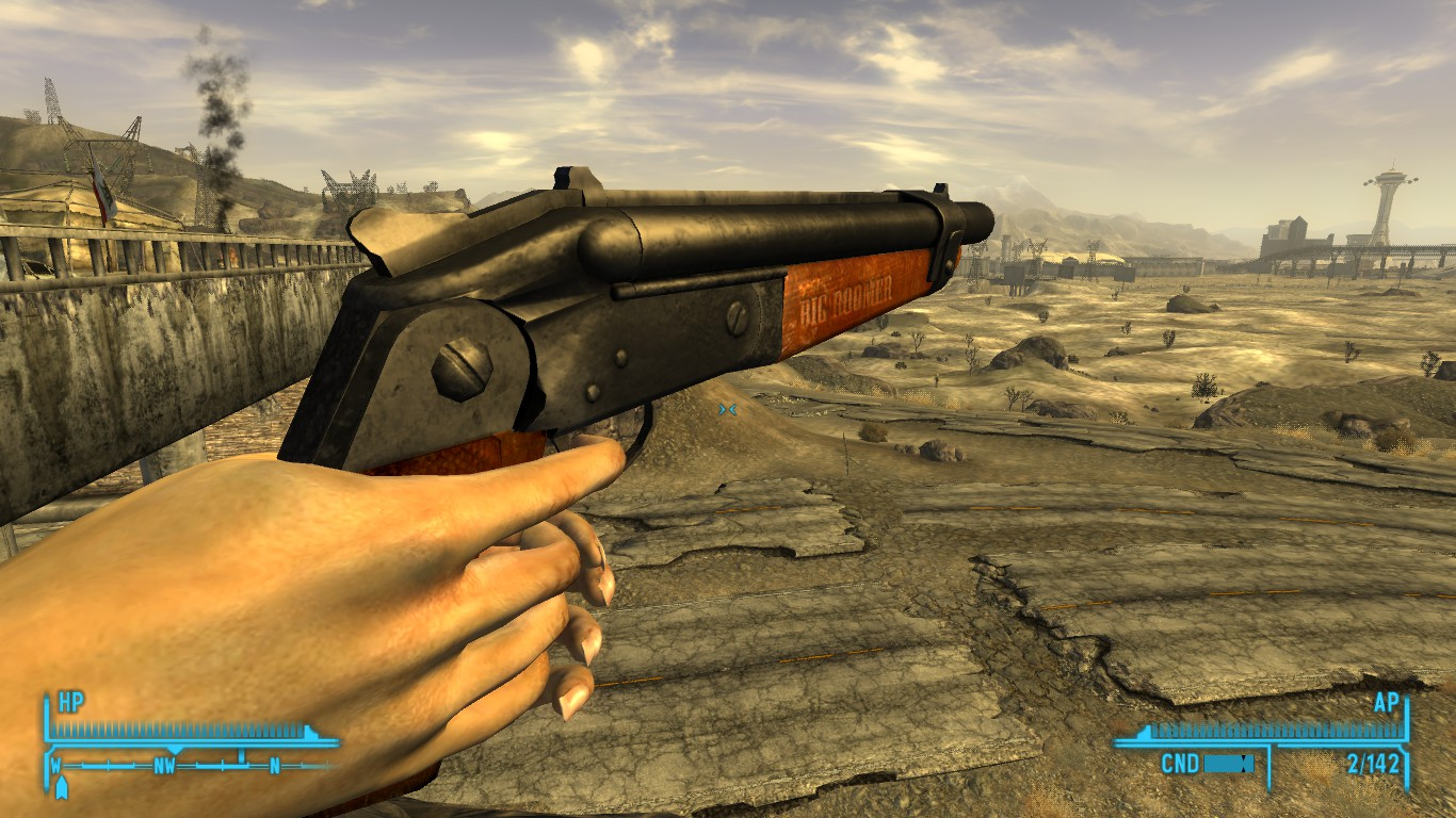 Sawed Off Shotgun And Big Boomer Retexture Real Wood At Fallout