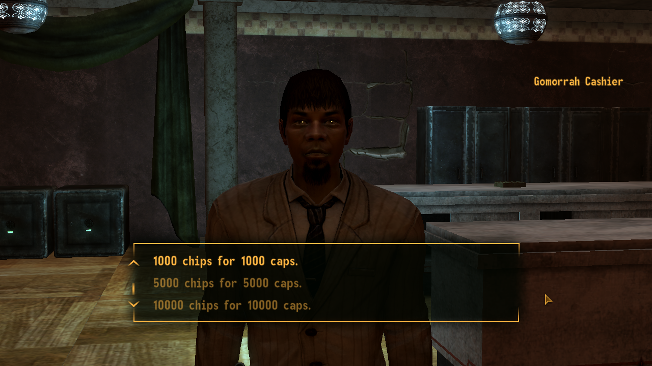 fallout new vegas getting banned from casinos