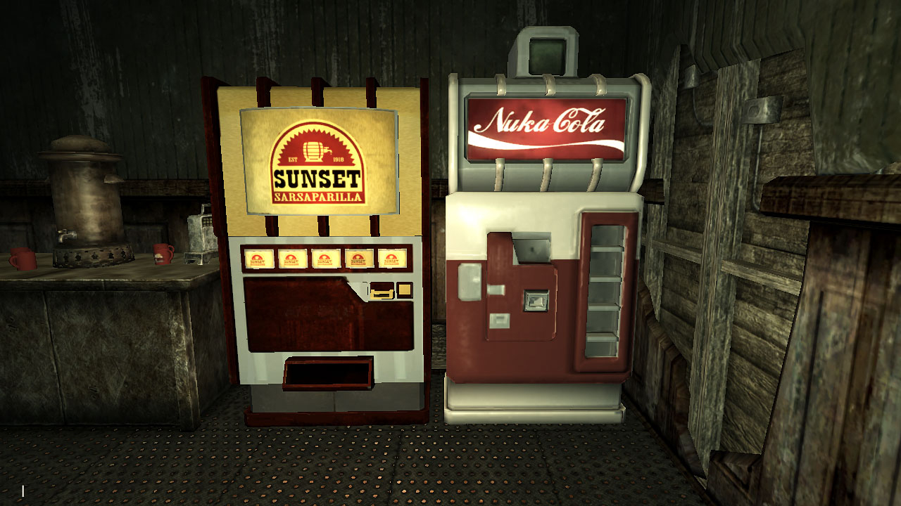 nuka cola vending machine clean at fallout new vegas mods and