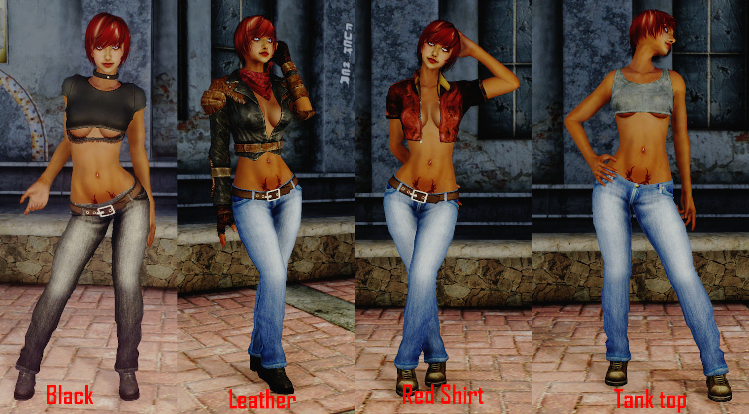 t6m jeans outfit at skyrim nexus mods and community. Black Bedroom Furniture Sets. Home Design Ideas