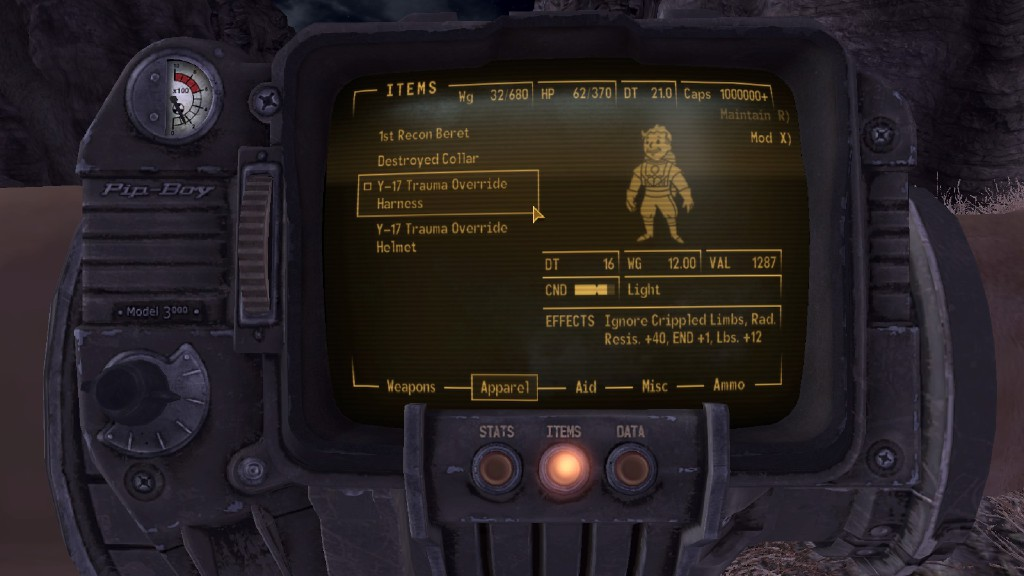 17 trauma override harness at fallout new vegas mods and community