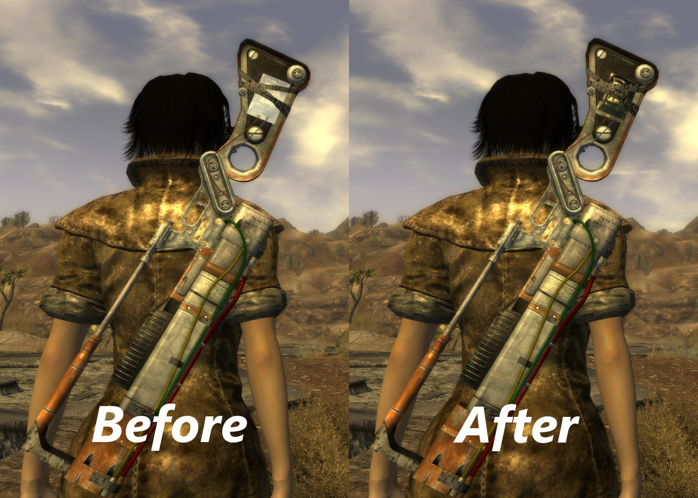 aer14 prototype stock clipping fix at fallout new vegas mods and