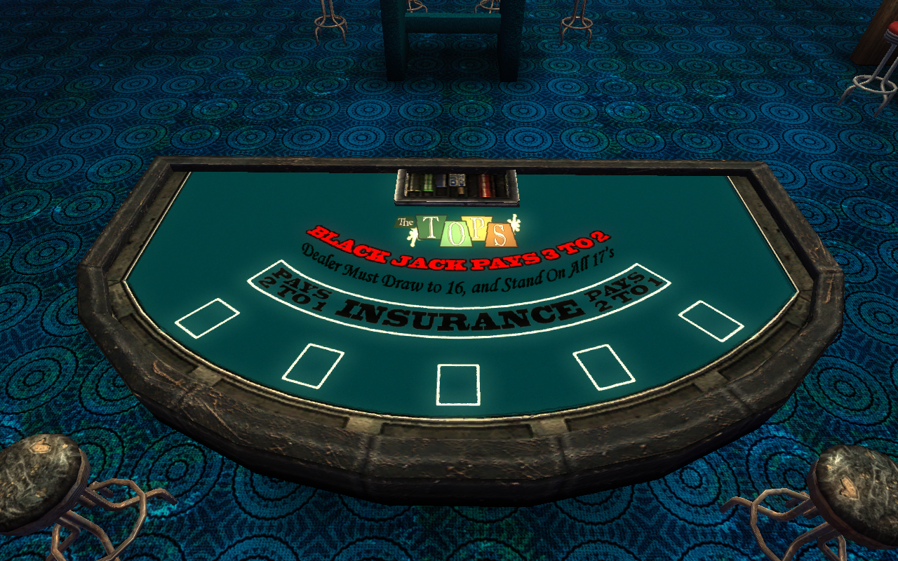 Blackjack table top view - Blackjack Table Top View 11