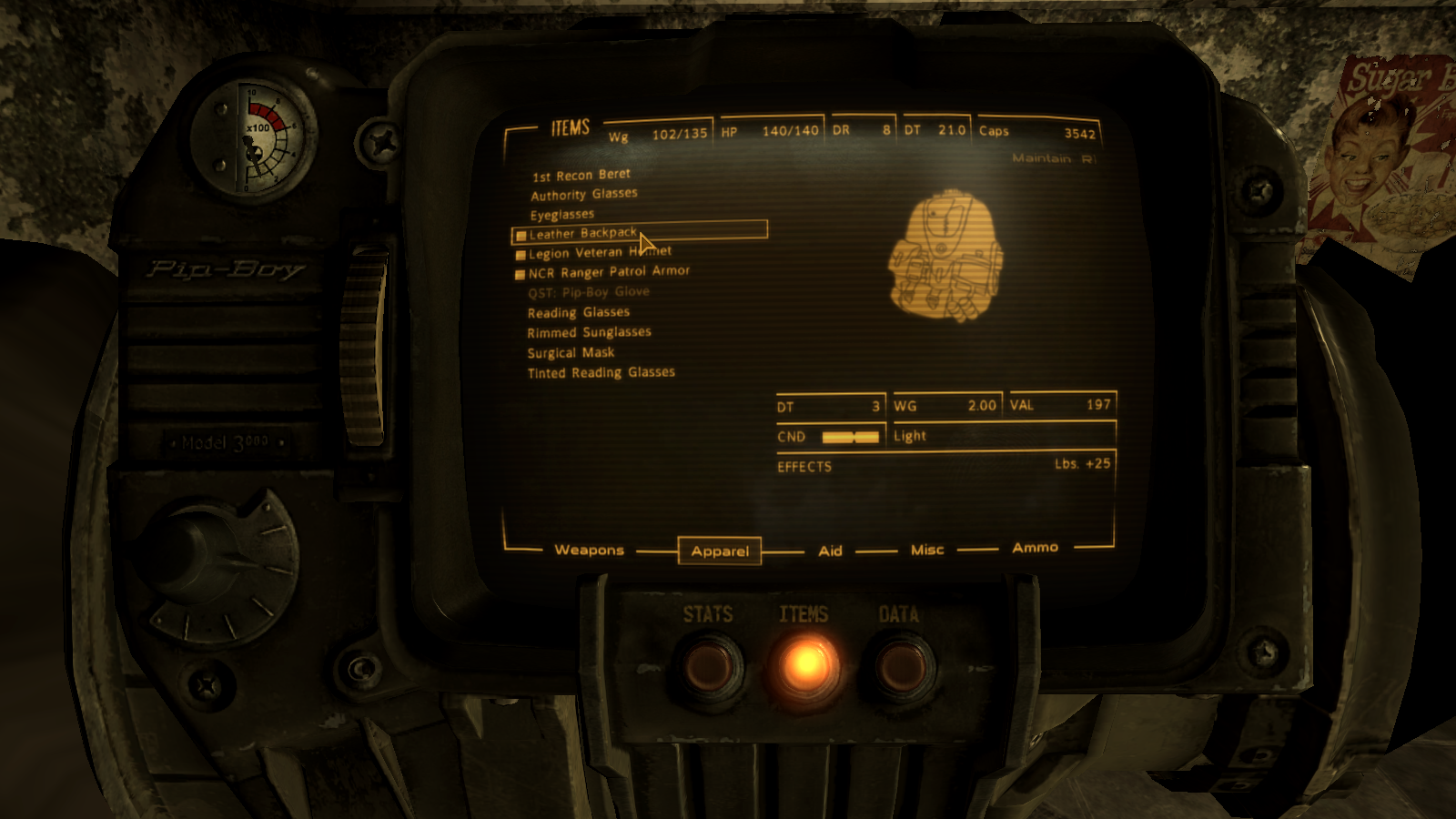 how to reset carry weight fallout 3
