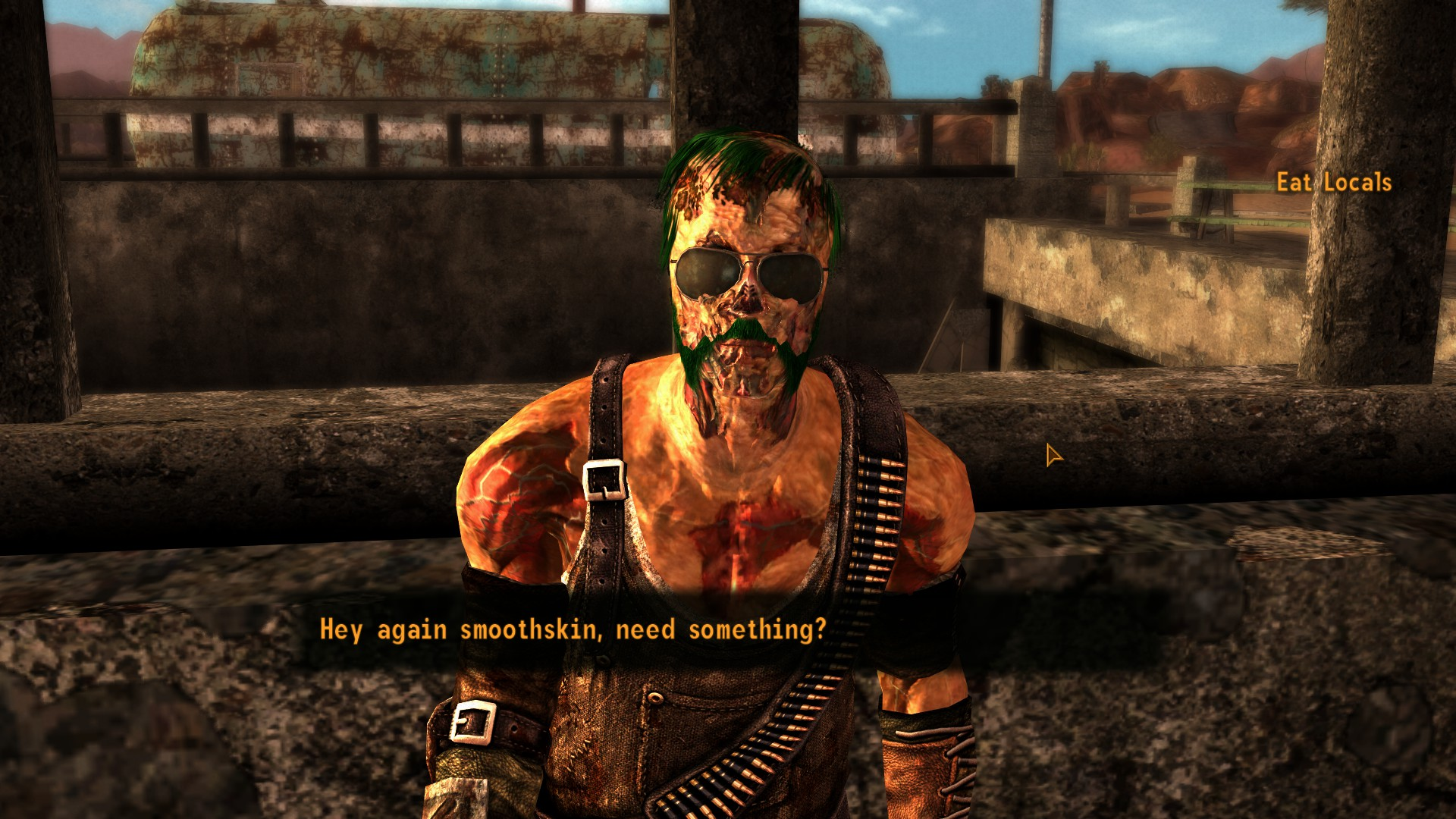 Companion Eat Locals The Legion Reject That S A Ghoul At Fallout