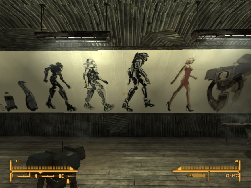 New nellis boomer museum mural history of the cylons at for Fallout 4 mural