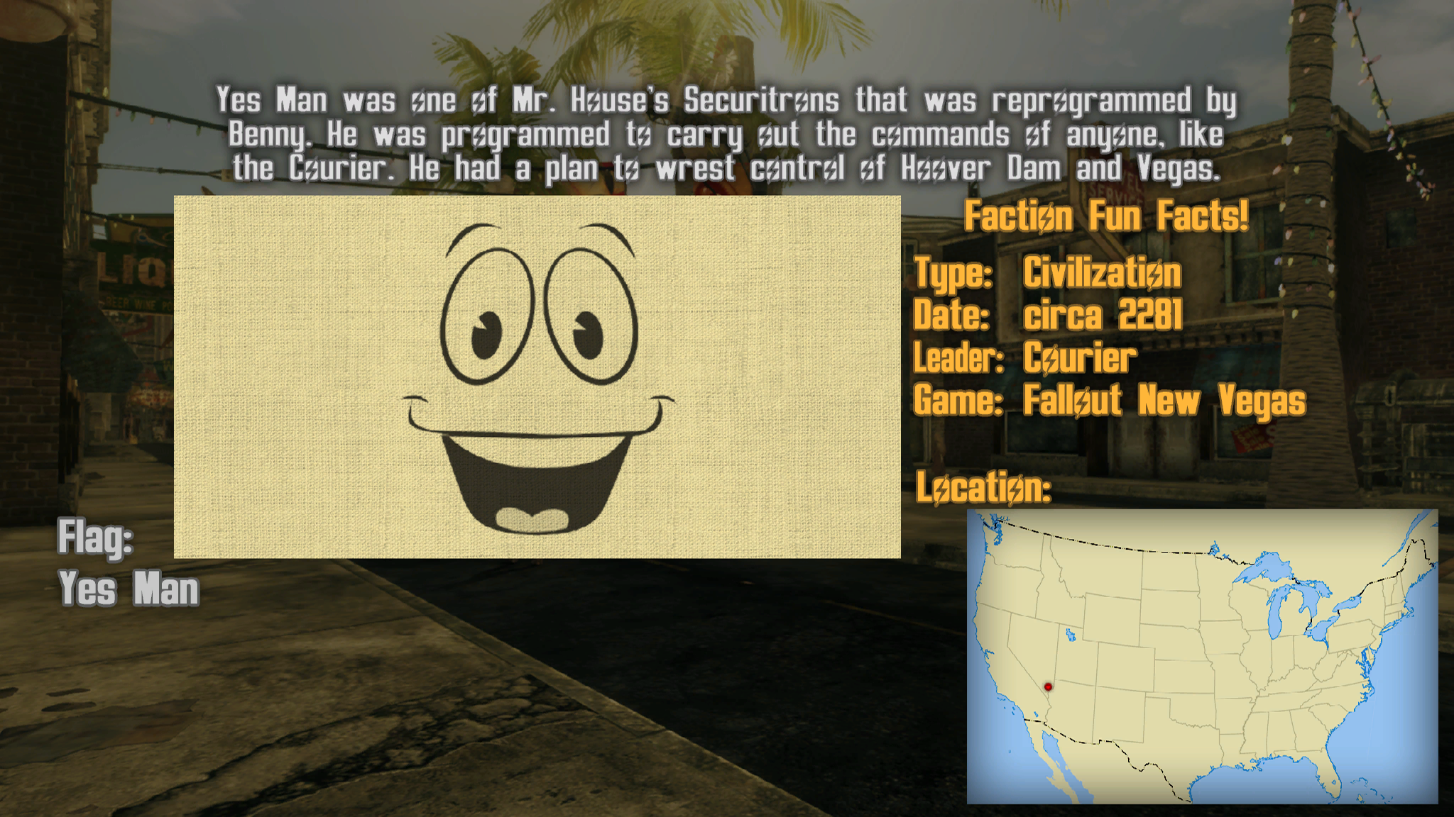 Faction Fun Fact Loading Screens At Fallout New Vegas Mods And
