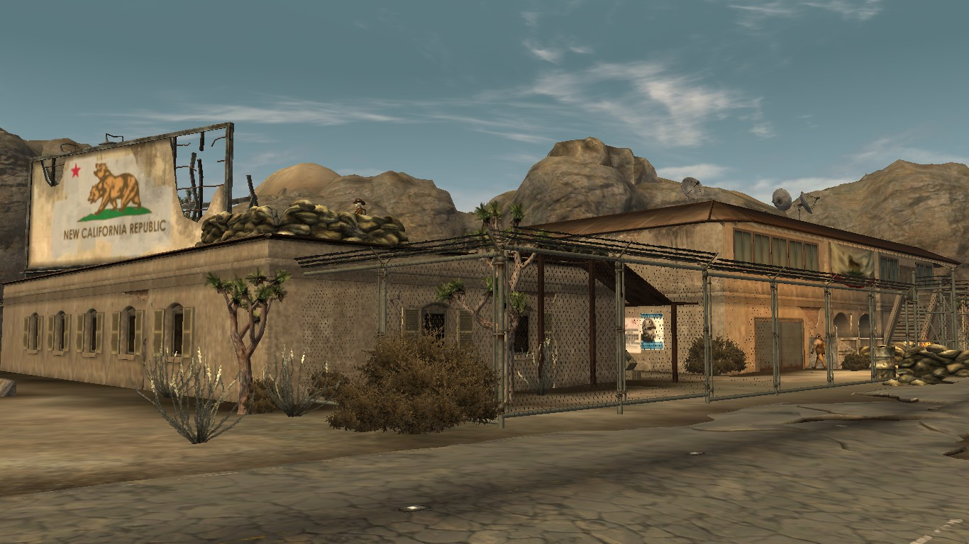 Classic Adobe Buildings in Mojave at Fallout New Vegas mods and