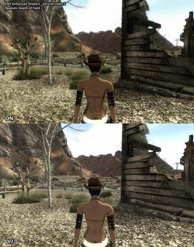 Depth of Field with AA Comparison