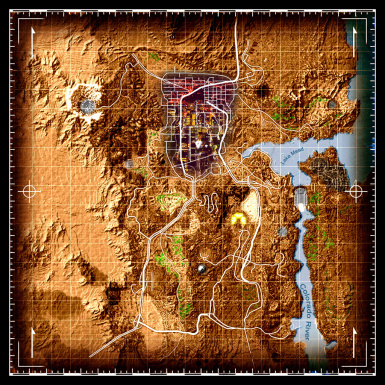 New Vegas World Map.Shiloh Ds Colored Map And Icons At Fallout New Vegas Mods And