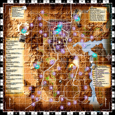 Fallout Las Vegas Map.Shiloh Ds Colored Map And Icons At Fallout New Vegas Mods And
