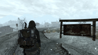 Welcome to snowy Goodsprings