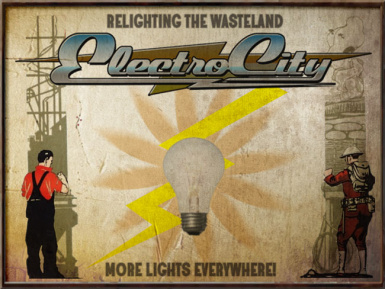 ELECTRO CITY HQ Sign