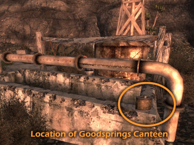 Goodsprings Canteen Location