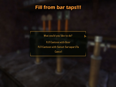 Fill from bar taps