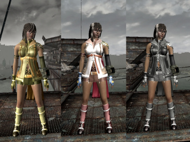 FFXIII Lightning Gunsword and Armour - Type3 Exnem for NV