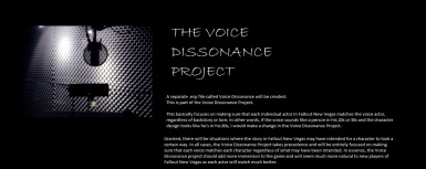 THE VOICE DISSONANCE PROJECT
