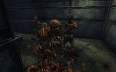 Day of the dead - ghouls attacking with no arms