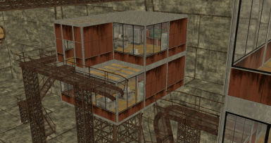 Catwalks and offices