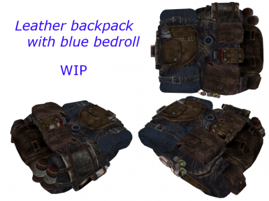 LB with blue bedroll WIP