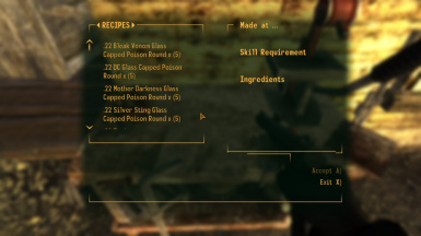 Professional 22 ammo and weapons at Fallout New Vegas - mods