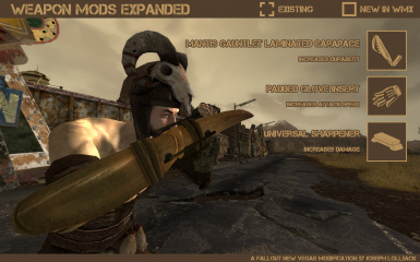 Weapon Mods Expanded - WMX at Fallout New Vegas - mods and community