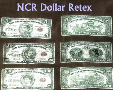 NCR Dollars front and back