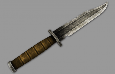 Combat Knife Rendered