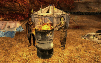 burning barrel npcs a