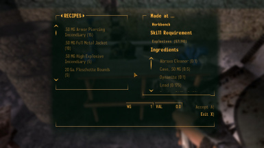 Essential Craftable Ammo at Fallout New Vegas - mods and