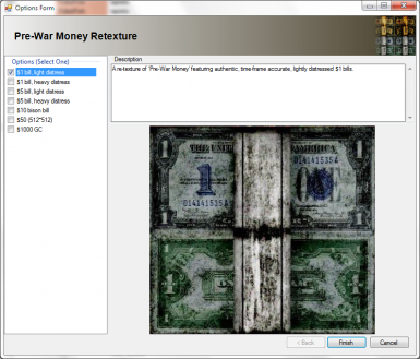 Pre-war money retexture